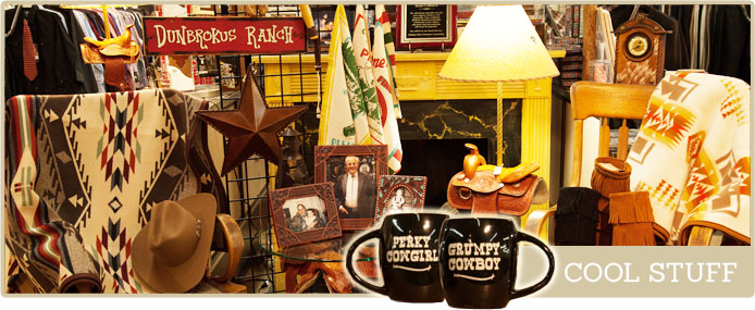 Western home decor and cowboy gifts and novelties