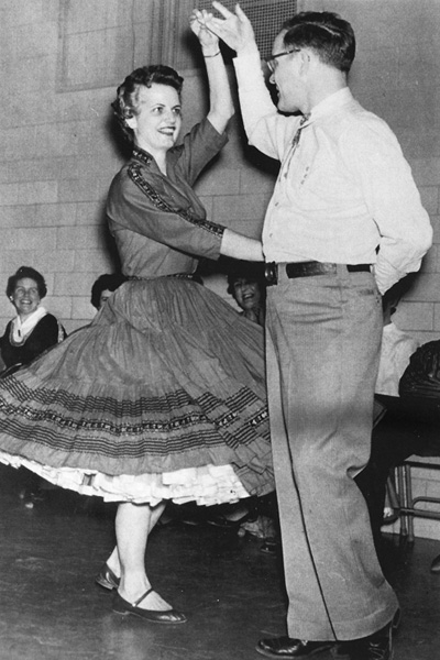 Scott and Marge Colburn square dancing