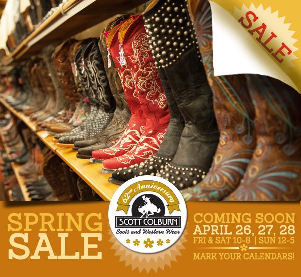 Scott Colburn Boots & Western Wear Spring Sale
