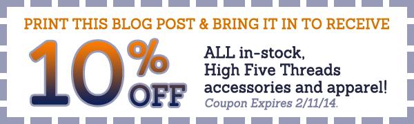 SCWW 0114 high5 blog coupon