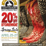 Scott Colburn Boots & Western Wear Spring Sale April 25-27