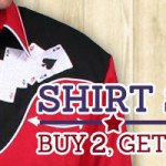 Buy 2 Get 1 Free July Shirt Sale