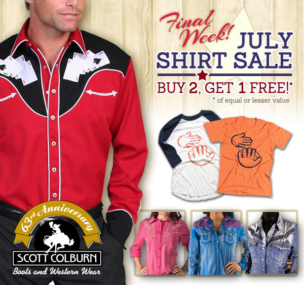 Final Week of July Buy 2 Get 1 Free Sale