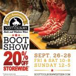 Scott Colburn Boots & Western Wear Boot Show Storewide Sale