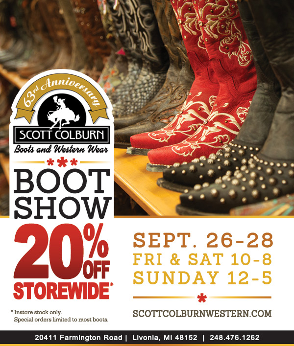 Scott Colburn Boots & Western Wear Boot Show Storewide Sale