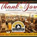 Customer Appreciation Day 2014: November 8-9 at Scott Colburn Boots & Western Wear