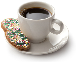 Coffee and Christmas Cookies
