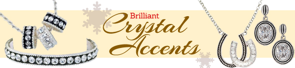 Brilliant Crystal Accents - Sterling silver and crystal jewelry