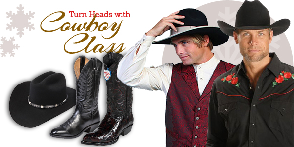 Turn Heads with Cowboy Class - Men's Western boots, hats, and apparel