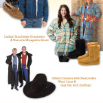 Western Fleece Outerwear, Sheepskin Footwear, Wool-Lined Coats, and more to keep you warm this winter