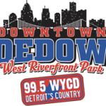 99.5 WYCD Downtown Hoedown West Riverfront Park logo