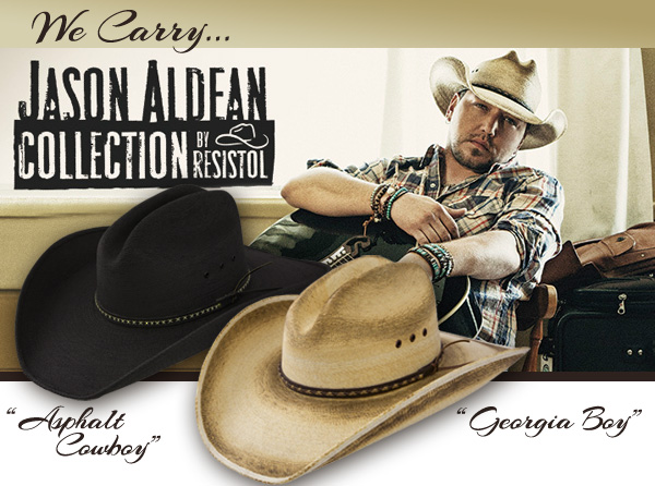 Jason Aldean hat collection by Resistol