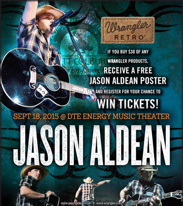 Win tickets to meet Jason Aldean at DTE Energy Music Theater