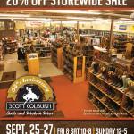 Scott Colburn Boots and Western Wear storewide sale September 25-27