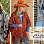 Warm women's Western Wear capes and scarves