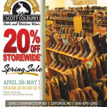 Storewide Spring Sale at Scott Colburn Boots and Western Wear