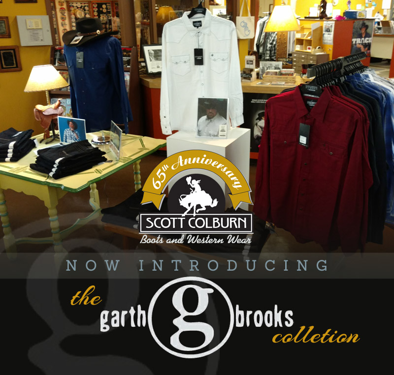 Garth Brooks clothing at Scott Colburn Boots and Western Wear
