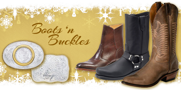 Western Boots and buckles at Scott Colburn Boots and Western Wear