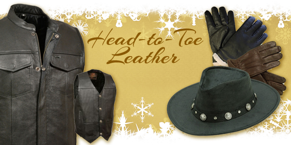 leather vests, gloves, and hats at Scott Colburn Boots and Western Wear