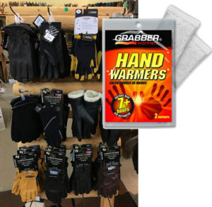 Receive a complimentary 2-pack of hand warmers with your purchase of gloves