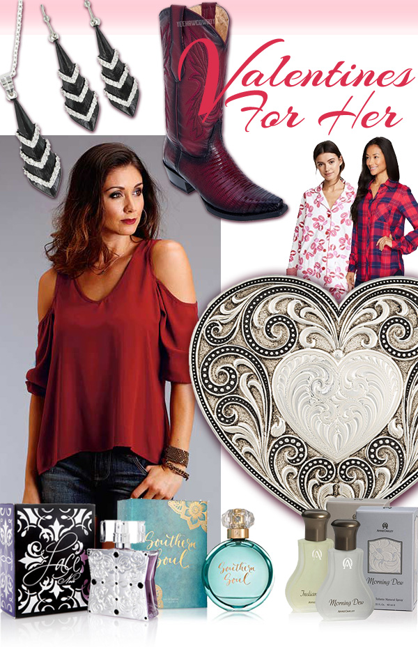 Women's Western Cowgirl Valentines Day gift ideas