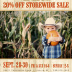 Scott Colburn Boots and Western Wear Storewide Sale and Boot Show on September 28-30, 2018